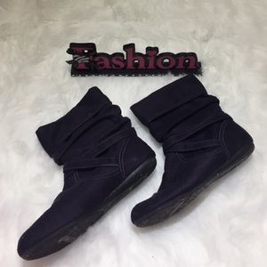 Ⓜ️ Halloween Cute Dark Purple boots Booties